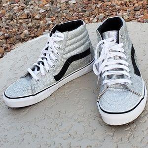 Vans EUC high top sneakers size 8 silver